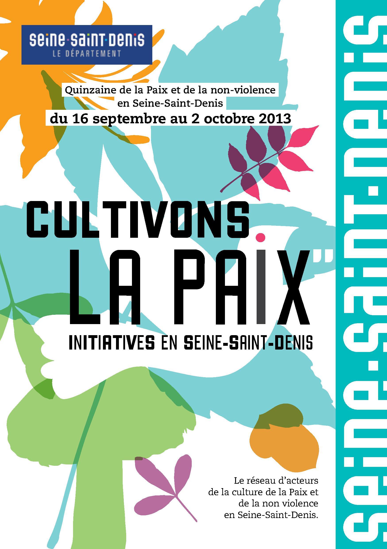 Quinzaine de la Paix et de la non-violence en Seine-Saint-Denis (septembre-octobre 2013)