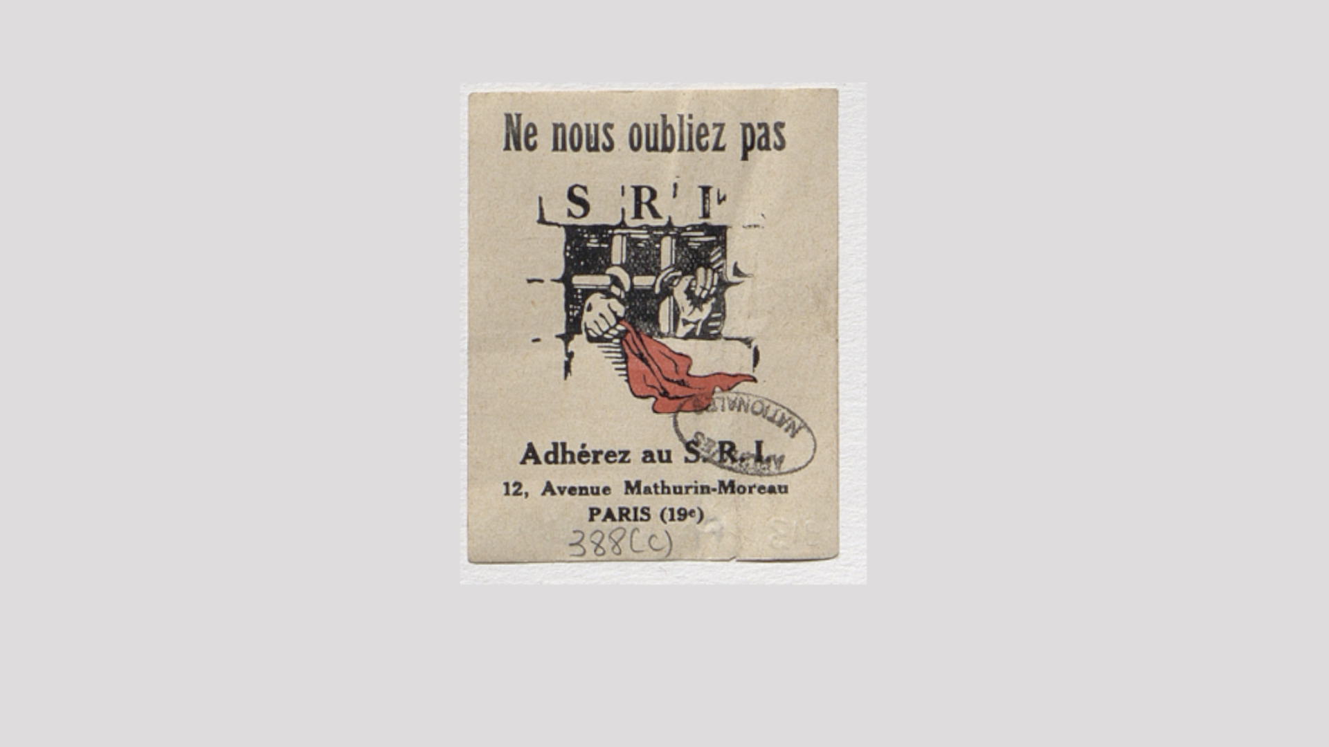 Du Secours rouge international au Secours populaire français: la solidarité comme arme