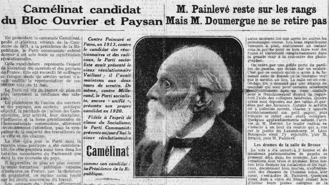 Le premier candidat communiste à la présidence de la République