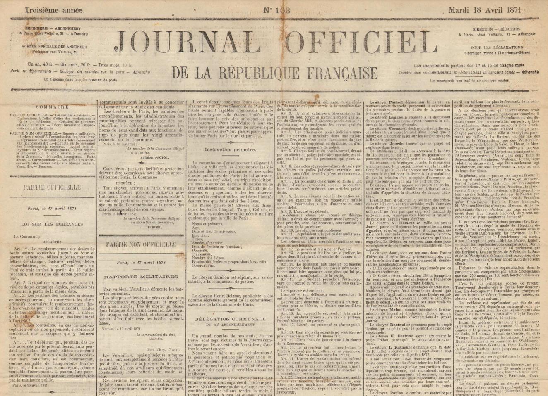Loi sur les échéances, 17 avril 1871
