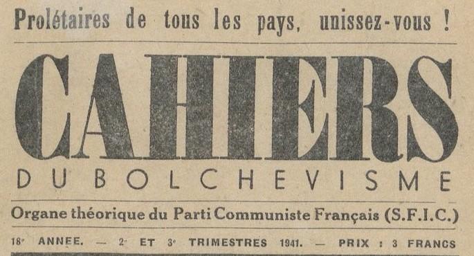 Les Cahiers du Bolchévisme