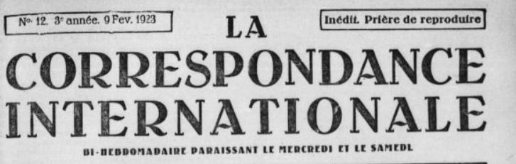 La Correspondance Internationale